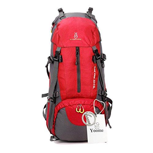 Yoome 60L sac à dos cadre interne randonnée randonnée sacs à dos pour la randonnée en plein air voyage escalade Camping alpinisme avec housse de pluie