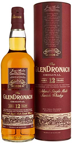 The GlenDronach - Original - 12 Jahre - Highland Single Malt Scotch Whisky - 43{3748b8718965364806727e4bb9006ee9a1cea7e03c03af6cae44a392f2591d8f} Vol. (1 x 0.7 L) / Es sind die Sherryfässer, die ihn so besonders machen.