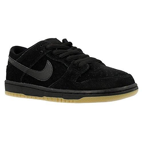 Nike Herren Dunk Low Pro IW Skaterschuhe, Black (Schwarz/Schwarz-Gum Light Brown), 42.5 EU - Schwarz Nike Dunk