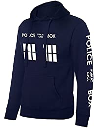 Advance Apparel Inspired Police Box Dr who Tardis Hoodie - Front and Sleeve Quality Printed Hood