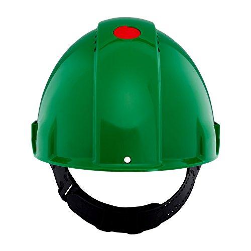 3M G30CUG Peltor Schutzhelm G3000C, ABS, Helm Innenausstattung mit Kunststoff SchWeißband und Pinnlock Verschluss, belüftet, Grün -