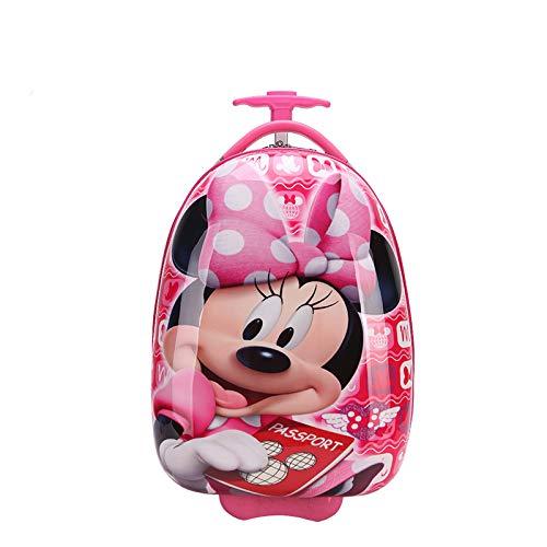Valigia trolley per bambini valigia cartone animato borsa scuola bambino guscio d'uovo trolley a forma di uovo Minnie 16 pollici