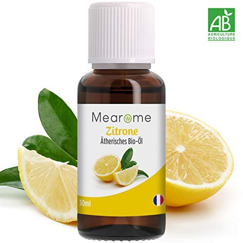 Zitronenöl Ätherisch BIO - 100% naturrein - Zertifiziertes BIO-Produkt - Duft-Öl Zitrone 30ml, Aroma für Diffuser, Aromatherapie -