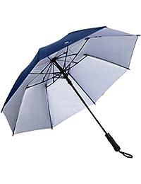 EEZEE Paraguas automático portátil y ligero a prueba de viento con protección UPF 50 y 8