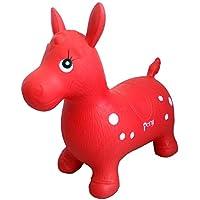 Brigamo Spiele 480 - Hüpfpferd Pony in rot, Hüpftier