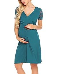 43b604653b8b UNibelle Vestito da maternità Donna Abito di maternità Abito in Pizzo Abito  di Gravidanza Scollo a