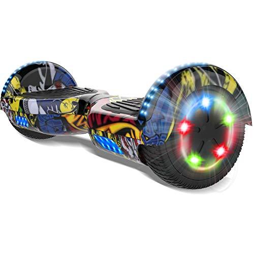 COLORWAY scooter 6.5inch E-Skateboard 2 x 350W Smart Scooter con LED Monopattini Elettrici Autobilanciati