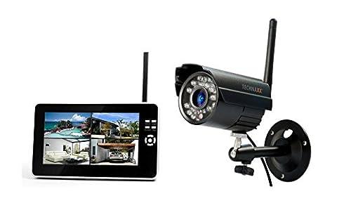 Technaxx Easy Überwachungskamera Set TX-28 mit Aufnahmefunktion 7 Zoll LCD-Display,