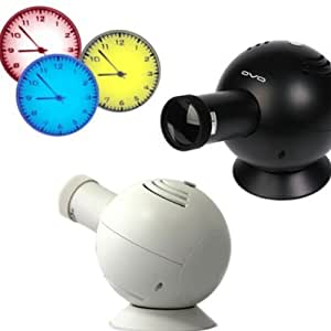 Projection Clock * Animated time with LED projection * White