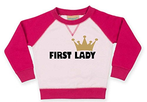 First Lady Womens Pink T-shirt (2-farbiges Baby Langarm T-Shirt (Farbe pink-fuchsia) (Gr. 3-4 Jahre) First Lady /FAT)