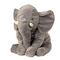 Lifestyle & More Cuddly soft elephant plush toy lying on the side 50 cm Plush bear cuddly toy velvety soft