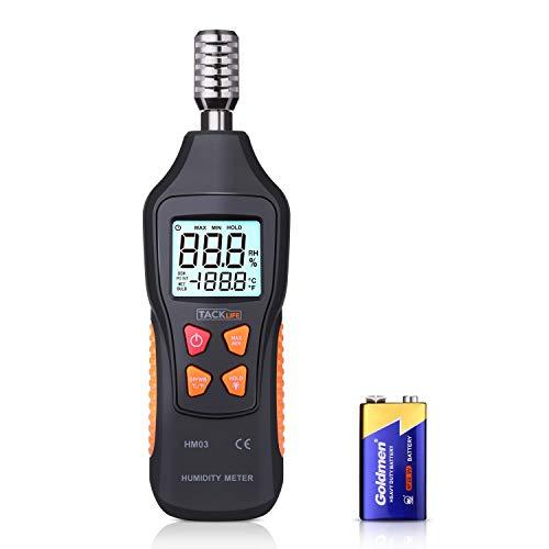 Termometro Igrometro TACKLIFE HM03 Termoigrometro Digitale Misuratore di Temperatura -50℃~60℃(-58~140℉), di Umidità...