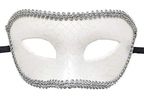 Antjoint Maskenmaske für Herren, Vintage-Stil, griechische römische Maske, venezianische Party, Halloween, Fasching, Karneval - Weiß - Einheitsgröße (Krieger Halloween-kostüm Griechische)