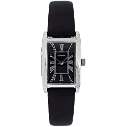 Sekonda Ladies Analogue Roman Numerals Black Leather Casual Strap Watch 4026