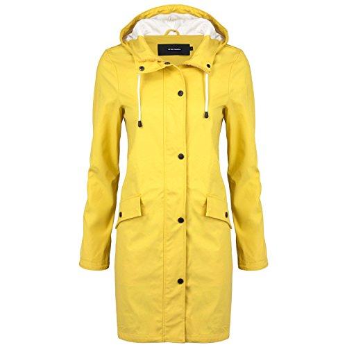 VERO MODA Damen Regenmantel, Farbe:gelb;Größe:S