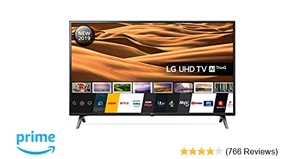 LG 49UM7100PLB 49 Inch UHD 4K HDR Smart LED TV with Freeview Play - Ceramic  Black (2019 Model) Amazon exclusive