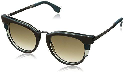 Fendi occhiali da sole ff 0064/s 70 occhi di gatto, donna, mxx