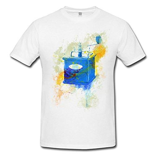Kaffemuehle Vintage Herren T- Shirt , Stylisch aus Paul Sinus Aquarell Color