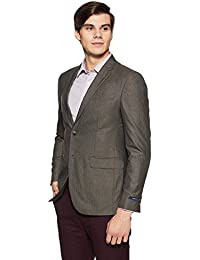 Peter England Men's Notch Lapel Slim Fit Blazer