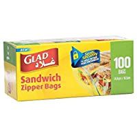 Glad Zipper Sandwich Bags - 100 Count