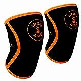IRON APE Knieschoner für Gewichtheben und Crossfit, 7 mm, 1 Paar, schwarz, X-Large