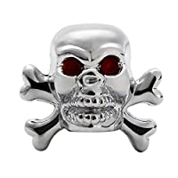 Zinniaya 1 pcs Sliver Universal Fancy Pirate Skull Tire Tyre Air Valve Stem Caps for Auto Car Truck Motorcycle Bike Wheel Rims