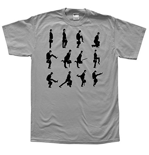 Monty Python Silly Walks Montage Gris T-Shirt, Taille L