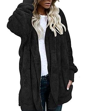 SHOBDW Mujeres encapuchados chaqueta de abrigo largo abrigos parka outwear Cardigan chaqueta