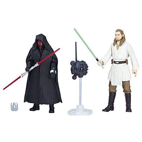Star Wars–Figura Darth Maul y Quigon Jinn 10cm, e1687