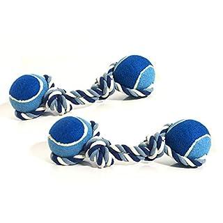 ASC-Twin Pack-Oversized Seil und Ball Hund kauen/Tug Toy-Groß 40cm-blau