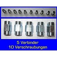 10x unión 5x Conector para freno cable 4,75mm de reborde F Profesional de Calidad fabricado en Alemania.