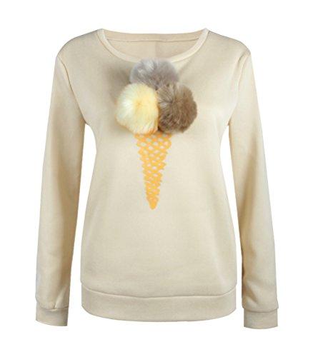 SunIfSnow - Sweat-shirt spécial grossesse - Uni - Manches Longues - Femme Jaune