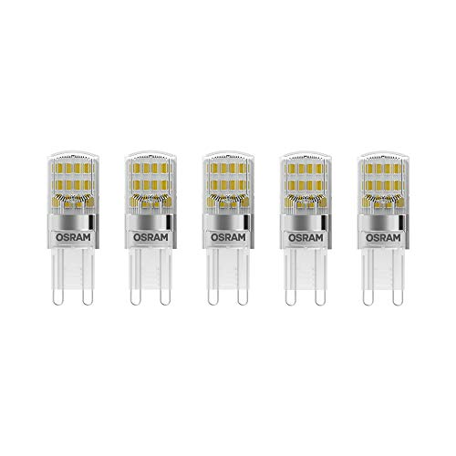 Osram LED Base Pin G9 / Lampe, G9, 2, 60 W, 30-W-Ersatz - für, klar, Warm White, 2700 K, 5 - er-Pack -