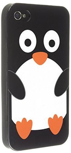 Trendz Clip-On Hülle Schutzhülle Case Cover für iPhone 4/4S mit lustiger Tierfigur - Pinguin