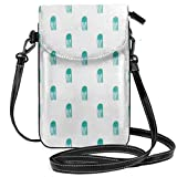 Women Small Crossbody Single Shoulder BagAs a cellphone bag, it can protect your cell phone away from dropping,scratch, and water etc.As a crossbody bag,you can put cards, card, tissue and something you need in it.As a travel bag, it's bog enougth to...
