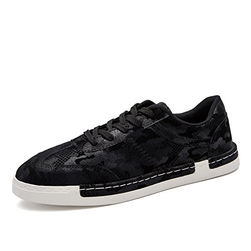 GOMNEAR Chaussures de Course à Pied Occasionnels Pour Hommes Lightweight Fashion Outdoor Fitness Sneaker Oxford Loafer Sport Chaussures Noir