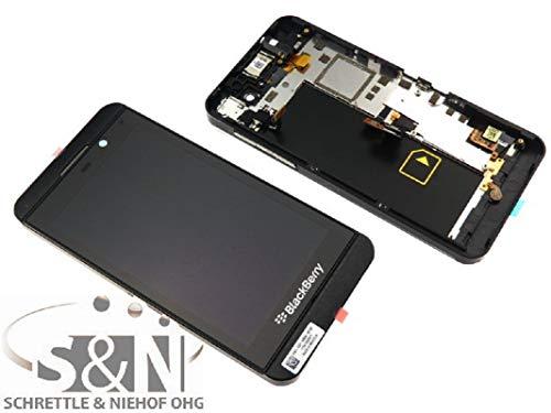 Blackberry Z10 Display Displaymodul LCD Anzeige + Touchscreen + Glas Scheibe + Rahmen + Hörer + Mikrofon 4G Europa, schwarz