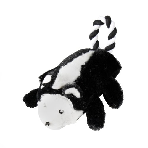 KRISLIN Plüsch Skunk mit Schwanz aus Seil, Spielzeug für Hunde (Schwanz Skunk)