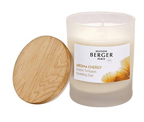 Kerze-lampen-basis (PARFUM BERGER Aroma Duftkerze, Glas, Weiß 7,45 x 7,45 x 9,7 cm)