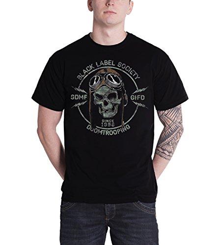 Black Label Society Doom Trooper band logo Nue Herren T Shirt all sizes (Hoodie Label Society Black)