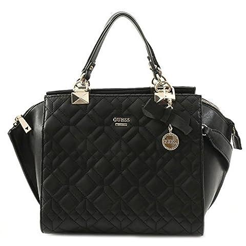 GUESS, Damen Handtaschen, Umhängetaschen, Henkeltaschen, Trapez-Bags, Schwarz, 41 x 26 x 12 cm (B x H x T)