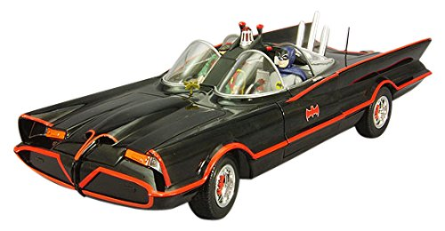 Hot Wheels Collector Batman Classic TV Series Batmobile with Figures Die-cast Vehicle (1:18 Scale) Tv Series Batmobile