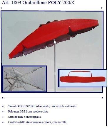 Gonfiabili-intex-bestway-ecc. ombrellone mare poly 200 poliestere e silver sessa con sfiato antivento e borsa c tracolla