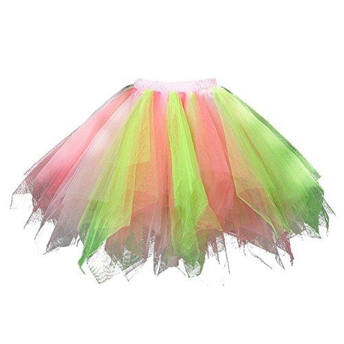 Find Dress Femme Tutu Jupes de Bal/Ballet- Beaucoup de Couleurs Rose-Vert