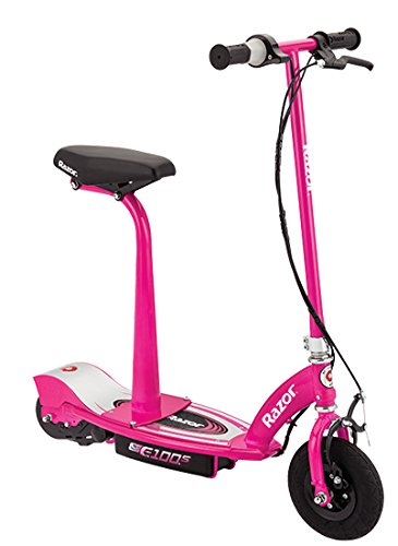 Razor E100S asiento Scooter eléctrico–rosa