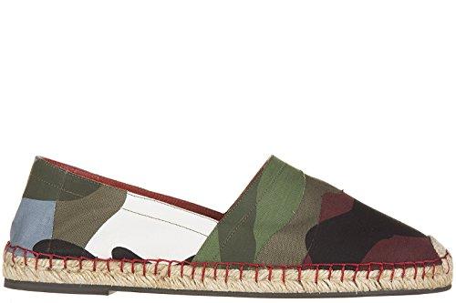 Valentino Baumwolle Espandrillos Espadrilles Herren camouflage Grün Grün
