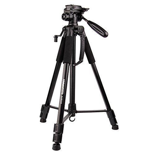 Traveller Aluminium Stativ-CAMBOFOTO Dreibein Stativ, 160cm Kleines Stativ mit Pan Kopf für Kamera DSLR DV Canon Nikon