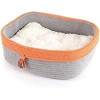 QJKai Mascota nido invierno cálido nido tejido perrera plegable gato nido mascotas suministros