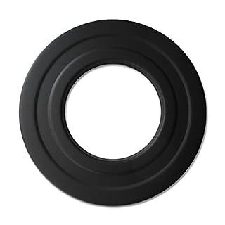 Pelletrohr Rosette 80 mm Schwarz Pellet Ofenrohr Rauchrohr Rohr