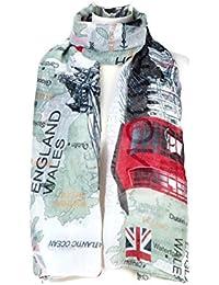 c4617168aed8 World of Shawls Londres Souvenir souple écharpes écharpes Enveloppe châles  femmes filles Unisexe